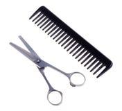 fryzjerstwo grzebieniowi nożyce Fotografia Royalty Free