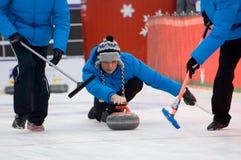 Fryzowanie gracz Pavel Mishin zdjęcia stock