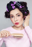 Fryzowanie włosy Zdjęcie Royalty Free
