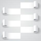 Fryzujący pustego papieru lampasa sztandary z cieniami dalej royalty ilustracja