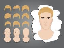 Fryzury blond royalty ilustracja