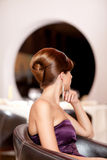 fryzury piękna kobieta fotografia royalty free