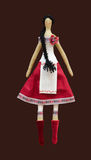 FS Handmade  doll girl in Ukrainian folk style dress Royalty Free Stock Photos