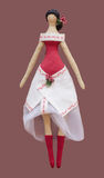 FS-Handmade isolated doll girl in Ukrainian folk s Stock Image