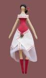 FS-Handmade isolated doll girl in Ukrainian folk s Stock Image