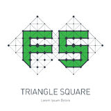 FS initial logo. F and 5 logotype. Vector design element or icon Royalty Free Stock Photos