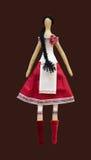 FS met de hand gemaakt poppenmeisje in Oekraïense volksstijlkleding Royalty-vrije Stock Foto's