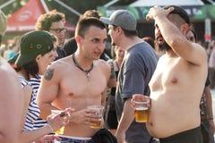 Fãs no Fest do verde de Tuborg Foto de Stock Royalty Free