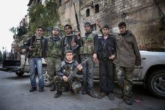 Fsa-kämpar Aleppo. Royaltyfri Bild