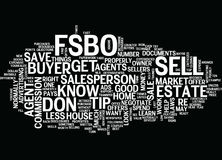 Fsbo Tip Don T Do It Word Cloud Concept. Fsbo Tip Don T Do It Text Background Word Cloud Concept Stock Images
