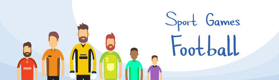 Fósforo de futebol Team Sport Competition Banner Foto de Stock