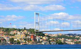 FSM Bridge. Entrance of Bosphorus in Istanbul Stock Photography
