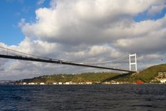 FSM Bridge, Istanbul. Fatih Sultan Mehmet Bridge in Istanbul, Turkey Stock Images