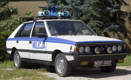 FSO Polonez car police. FSO Polonez as car police in police base in Poznan on july 24, 2011 Royalty Free Stock Images