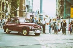 FSO Warszawa på den Motoclassic showen på tappningeffekt Arkivbild