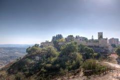 Fästning av Enna, Sicilien, Italien Arkivfoto