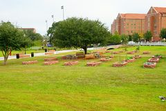 FSU campus landscape. Campus landscape at Florida State University Stock Photo