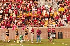 FSU Football Fans. Tallahassee, Florida - October 27, 2012:  FSU students cheering for the Seminole football team during Homecoming weekend, a FSU vs. Duke Stock Photography