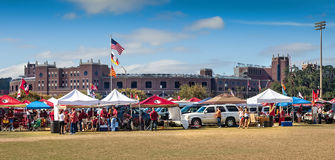 FSU Football. Tallahassee, FL - Nov. 16, 2013:  FSU fans tailgating outside Doak Campbell Stadium before a home game against Syracuse University.  Most of the Stock Images