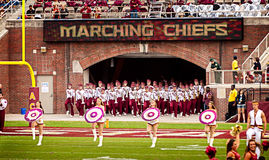 FSU Marching Chiefs Royalty Free Stock Photo