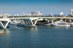 Ft 劳德代尔,两岸间的佛罗里达 免版税库存照片