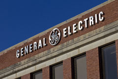 Ft 韦恩,大约2015年12月:通用电器公司工厂 库存照片