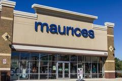 Ft 韦恩-大约2016年9月:Maurices零售购物中心地点 Maurices是妇女的衣物链子我 库存图片
