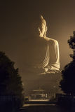 80 ft Buddha in Bodhgaya. The Giant Buddha Statue is one of the many stops in the Buddhist pilgrimage and tourist routes in Bodhgaya, Bihar. The statue is 25 m Stock Photography