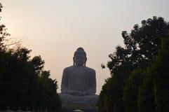 Buddha statue, Daijokyo Budhist temple Bodhgaya Bihar. 80 ft Buddha statue, Daijokyo Budhist temple Bodhgaya Bihar Royalty Free Stock Photography