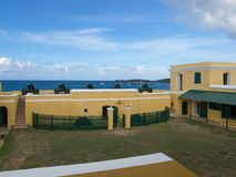 Ft. Christiansted Courtyard with Cannons on the Front Wall Stock Images