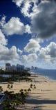 Ft Ett seglafartyg seglar precis av kust Fotografering för Bildbyråer