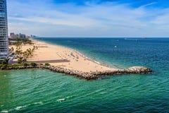 Ft Fort Lauderdale strand Royaltyfri Fotografi