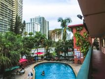 FT Lauderdale, ΗΠΑ - 12 Μαΐου 2018: FT Ξενοδοχείο και ακολουθίες παραθαλάσσιων θερέτρων Lauderdale στοκ φωτογραφία με δικαίωμα ελεύθερης χρήσης