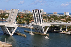 Ft. Lauderdale Bridge Lifting Stock Images