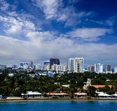 Ft. Lauderdale, Florida. Cityscape of downtown Ft. Lauderdale  Florida and vacation homes Royalty Free Stock Photography