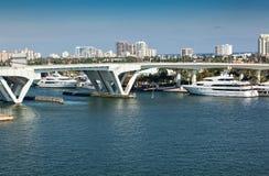 Ft Lauderdale, Florida intercostal Foto de Stock Royalty Free