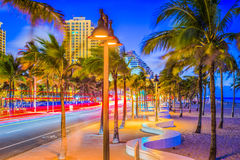Ft. Lauderdale, Florida, USA. On the beach strip Royalty Free Stock Images