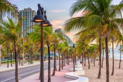 Ft. Lauderdale, Florida, USA. On the beach strip Royalty Free Stock Image