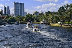 Ft. Lauderdale Intracoastal royalty free stock photos