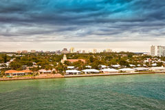 Ft. Lauderdale. Stormy weather moves into Ft. Lauderdale, Florida Royalty Free Stock Photo