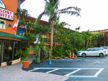 Ft Lauderdale, USA - 12. Mai 2018: Ft Lauderdale-Strandurlaubsorthotel und -reihen stockbilder