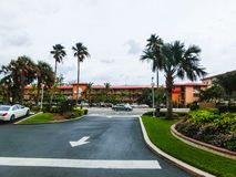 Ft Lauderdale, USA - 12. Mai 2018: Ft Lauderdale-Strandurlaubsorthotel und -reihen stockfotografie