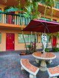 Ft Lauderdale, USA - 12. Mai 2018: Ft Lauderdale-Strandurlaubsorthotel und -reihen stockfoto