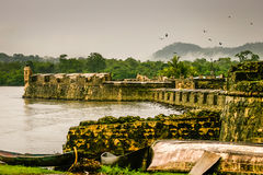 Ft. Lorenzo Panama Canal. Ft. Lorenzo's history in the Panama Canal area, Colon royalty free stock images