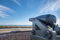 Ft Macom Cannons Royalty Free Stock Photography