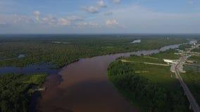 300 ft ovanför Borneo Arkivfoton