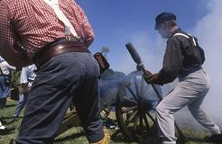 Ft Walton Beach, Florida, United States -circa 2007- American Ci. American Civil War Reenactors Dressed in Historically Correct Confederate Army Period Clothing royalty free stock photos