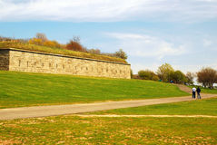 Ft Warren, Boston Harbor Islands. Fort Warren is one of the historic defenses placed on the Boston Harbor Islands to defend the Msassachusetts city from attack Royalty Free Stock Image