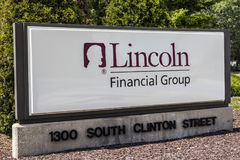 Ft. Wayne - Circa August 2017: Lincoln Financial Group Office, Lincoln Financial offers life insurance II. Lincoln Financial Group Office, Lincoln Financial Royalty Free Stock Image