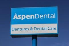 Ft. Wayne - Circa August 2017: Signage and Logo of Aspen Dental I Stock Photo